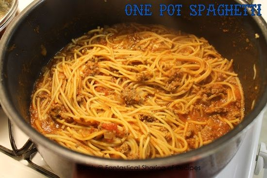 One Pot Spaghetti - with an ingredient that you normally dont find in spaghetti that blows it out of the water...Annnd, the noodles cook in the sauce so no boiling water or dragging out the colander!