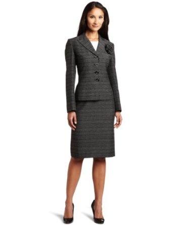 #1: Lesuit Women's Novelty Skirt Suit.
