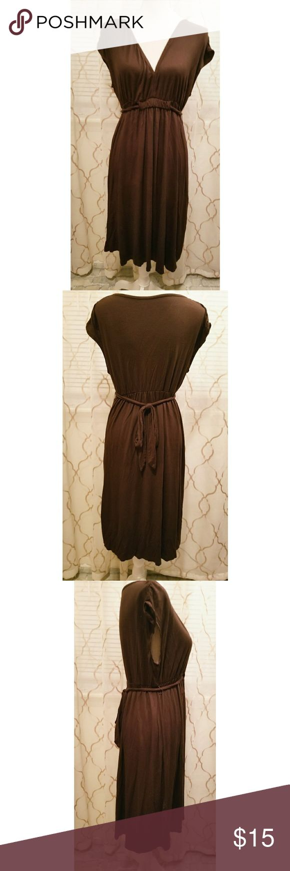 Maternity Dress Brown maternity dress Size XXL Ties in the back  *F Liz Lange for Target Dresses