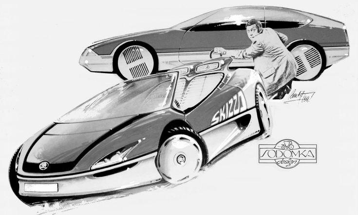 Pavel Hušek vystavuje vPraze návrhy aut pro značky jako Praga aTatra