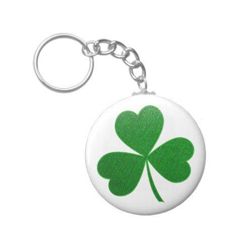 Three Leaf Clover -holiday- Keychain #stpatricksday #accessories