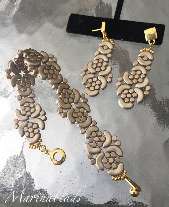 KIT Arabesque bracelet Arcos®par Puca® Color: por MarinaBeads06