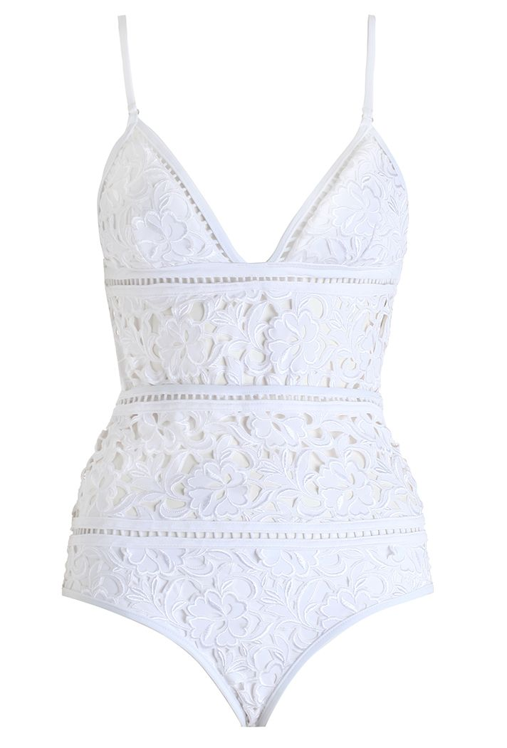 Shop the top swimsuit trends of Summer 2016   white embroidered one piece by @zimmermannonpin