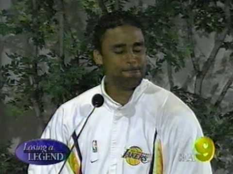 Rick Fox at Chick Hearn's Funeral.