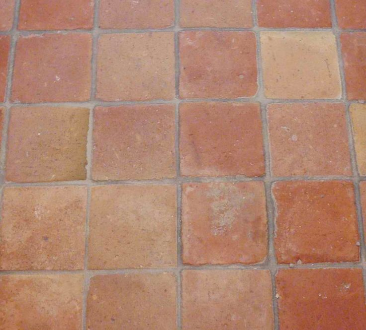 French Terracotta Red Tiles Square Eclectic Floor New York Second Shout Out