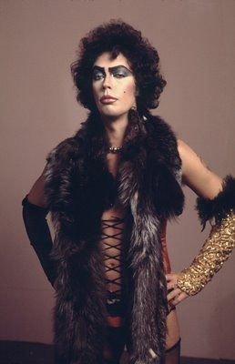 """Tim Curry and Frank N Furter in Rocky Horror Picture Show - """"Give yourself over to absolute pleasure."""""""
