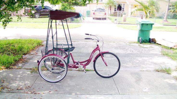 L K 3 Wheel Schwinn Meridian Adult Trike Canopy