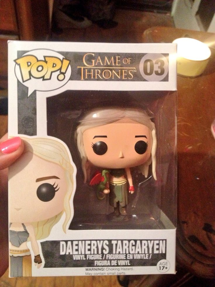 He also got me this Daenerys Targaryen Pop! Figure. The newest addition to my tiny Pop! Family! #GoT #HouseTargaryen #Targaryen #MotherOfDragons