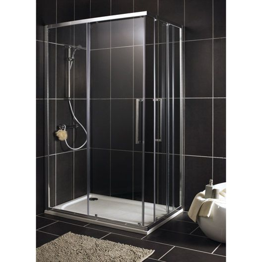 porte de douche coulissante sensea purity 2 verre. Black Bedroom Furniture Sets. Home Design Ideas