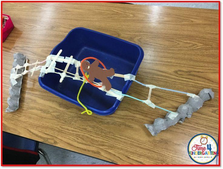 STEM in Kindergarten, Gingerbread Man Bridge