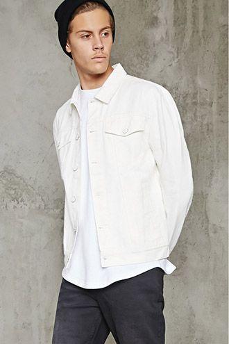 Enamel-Button Denim Jacket