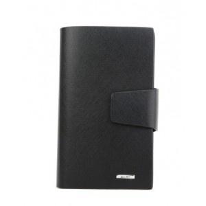 Black Fashion Handmade Leather Wallet With Zipper for Men - Men Bags - handbag shop
