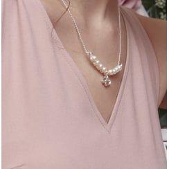 Johnny Loves Rosie Pearl Gem Necklace