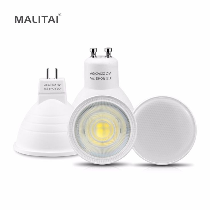 LED Spotlight MR16 GU10 LED Bulb 220V 7W Spot light Fireproof Plastic Aluminum MR16 LED lamp Indoor Downlight lighting