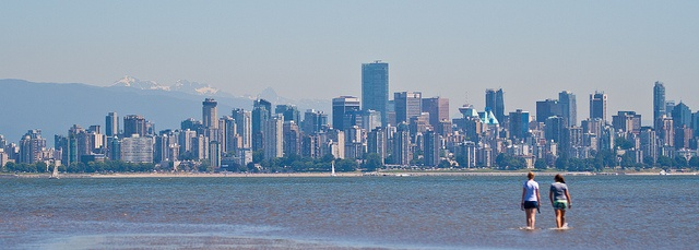 Vancouver Skyline from Spanish Banks by aaronvonhagen, via Flickr    http://aaronvonhagen.com      http://on.fb.me/JLbK2B