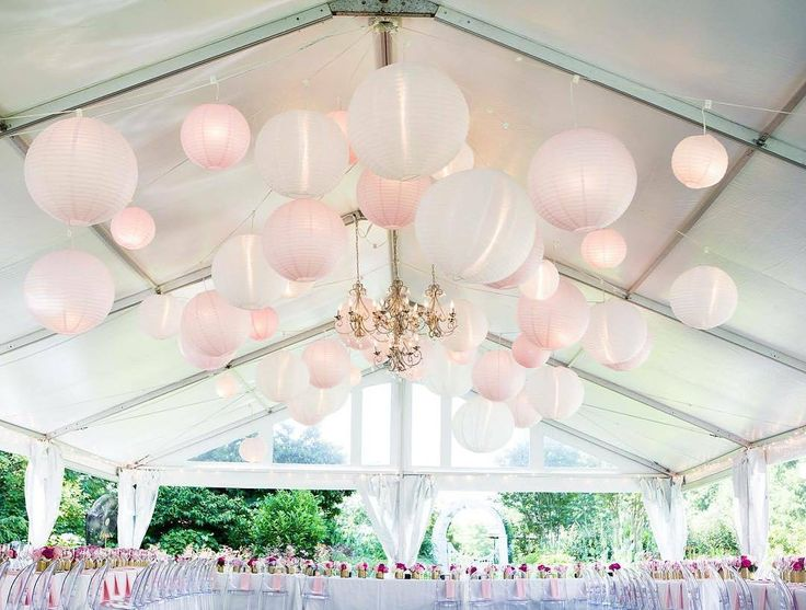 We LOVE how these light pink lanterns really dressed the space! | Regram: @iamsimplysoniaOur magical pink paradise.  #takemeback #pinkwedding @jessicaeastburn