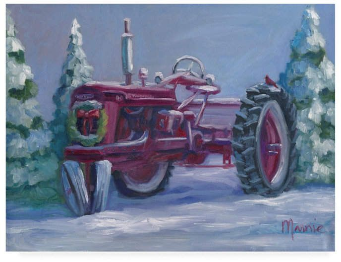 Marnie Bourque Farmall Fresh Snow Canvas Art – 15 x 20