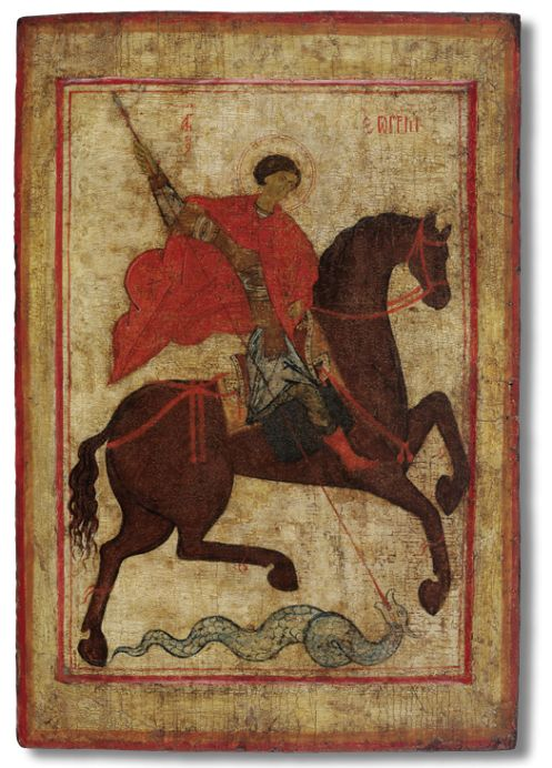 Miracle of St. George and the Dragon Last quarter – end of the XIV century. The Lands of Rostov