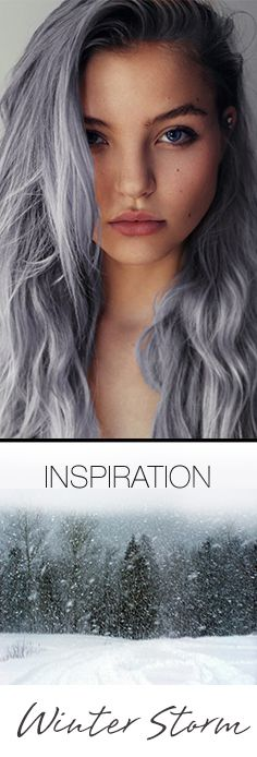 How about this beautiful winter hair color trend? Inspired the grey stormy skies of winter | Organic Color Systems Fall 2014 Hair Color Trend Guide