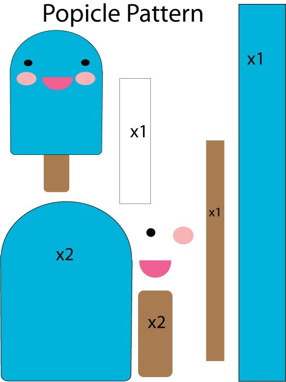 popsicle Plushie Pattern by Mokulen22.deviantart.com