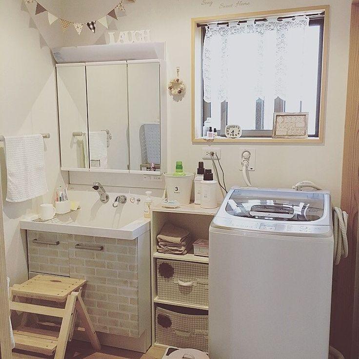ダイソー/洗濯機/AQUA/TWIN WASH/新しい洗濯機/サニタリールーム…などのインテリア実例 - 2016-08-22 22:57:03 | RoomClip(ルームクリップ)