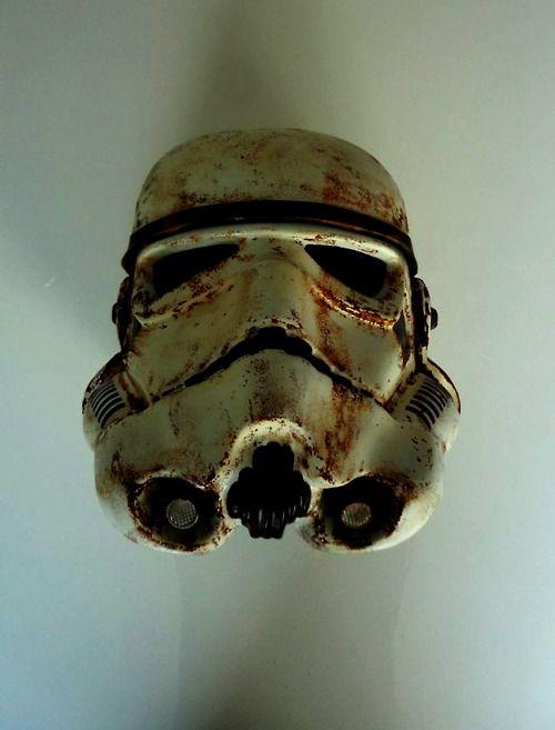 atrophy: Stormtroopers Helmets, Collection Stars, War Fans, Chocolates Sauce, Starwars Stormtroopers,  Chocolates Syrup, Battle Damaged, Stars War Stuff, Battle Starwars
