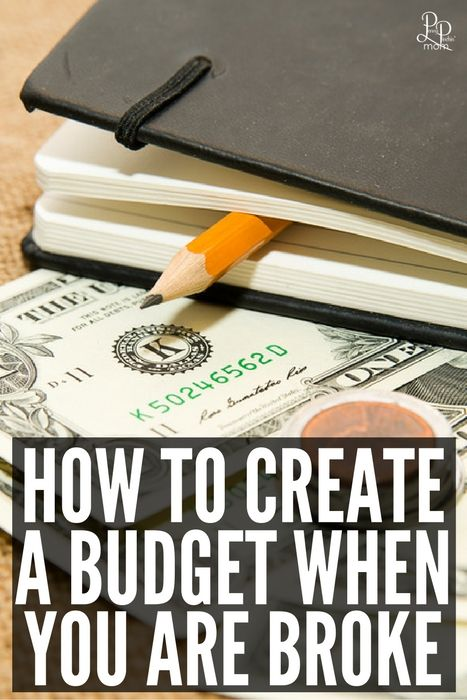 How to create a budget when you are broke.  You can still do it - you just need…