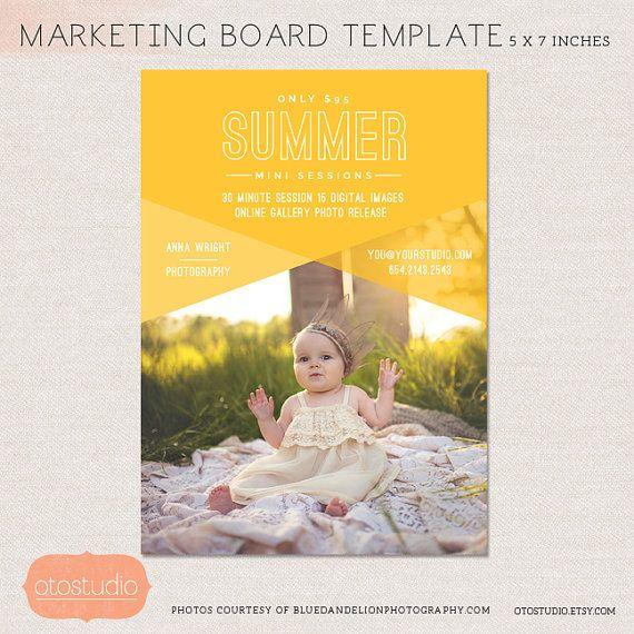 50% verkoop Mini sessie fotografie Marketing Raad - voorjaar zomer Minis MSU002 - Photoshop template liggen INSTANT DOWNLOAD