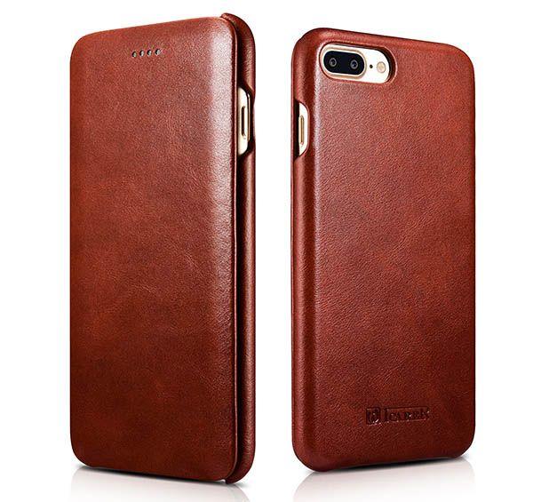 iCarer iPhone 7 Plus Curved Edge Vintage Series Genuine Leather Case