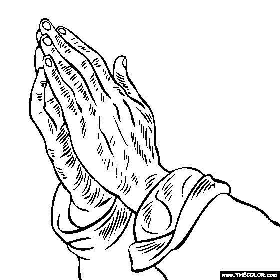 albrecht durer praying hands painting coloring free coloring page you can color on line