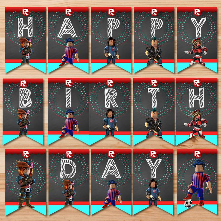 Roblox Happy Birthday Banner Chalkboard by HydrangeaEtchings