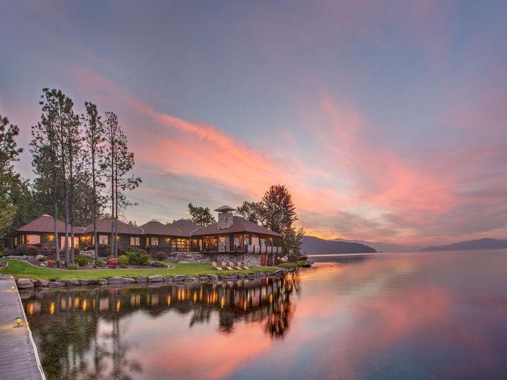 Meraviglioso tramonto da questa casa vacanza in Idaho, USA