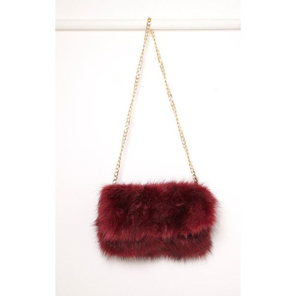 Kylah Ice Blue Faux Fur Clutch Bag ❤ liked on Polyvore featuring bags, handbags, clutches, faux fur handbags, blue purse, white clutches, blue clutches and white purse