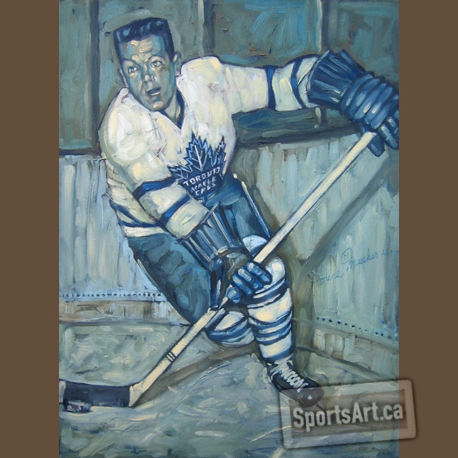 """Golly Gee Howie: """"Back it up, back it up! Stop it right there!"""" Howie Meeker is most famous for his broadcasting flare. As a player, Howie made his big mark as a rookie, he won the Stanley Cup, scored 5 goals in a single game, and beat Gordie Howe for the Calder Trophy."""