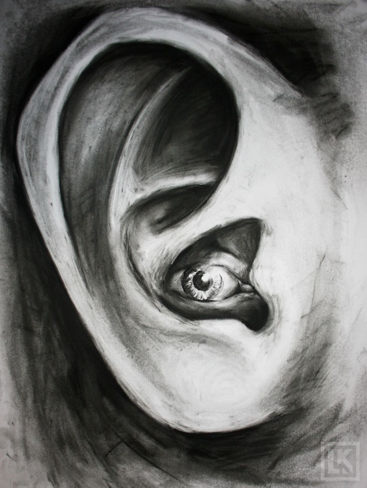 Surreal drawing idea: eye combined with ear | Surrealism ...
