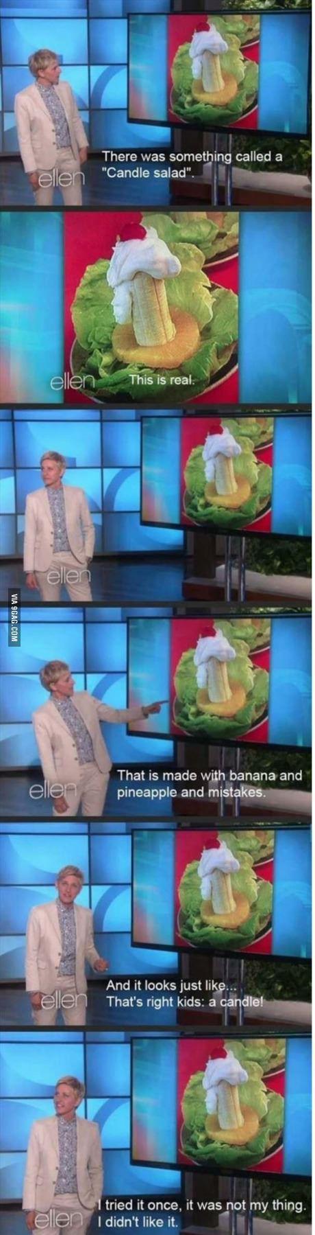Candle salad