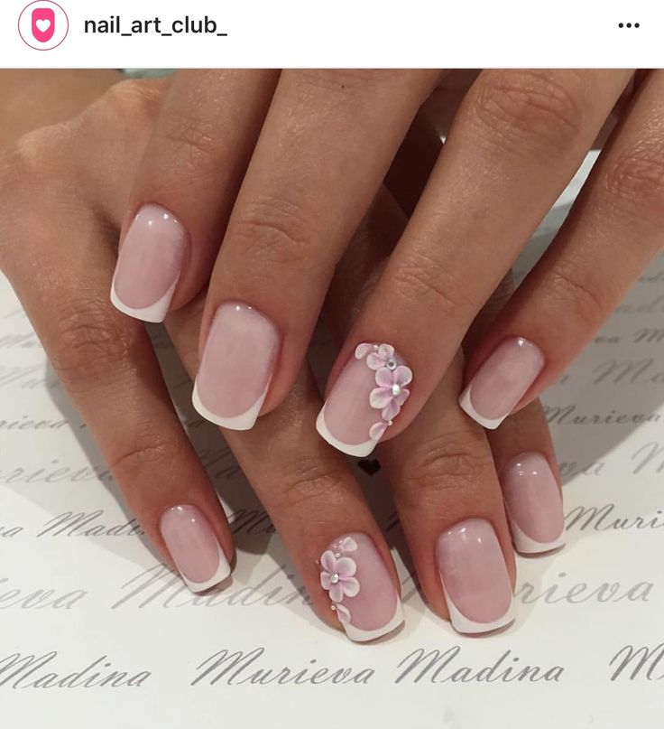 Nail Art French. Finest Nails For Wedding With Bow Ties Bow Tie ...
