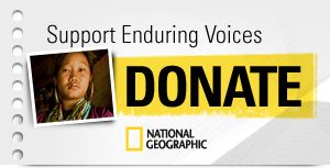 Enduring voices is a project by National Geographic which shows (and sthereby supports) all languages that are on the brink of extinctionVoice Projects, Endurance Voice, National Geographic, Geographic Endurance, Travel