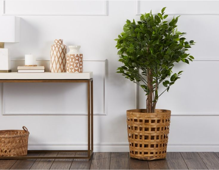 FICUS LEAF - Artificial Potted Plant 120cm - Green