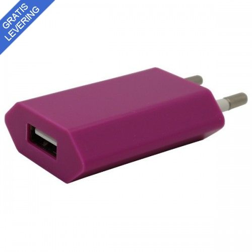 iPhone – iPad USB vægoplader - Pink