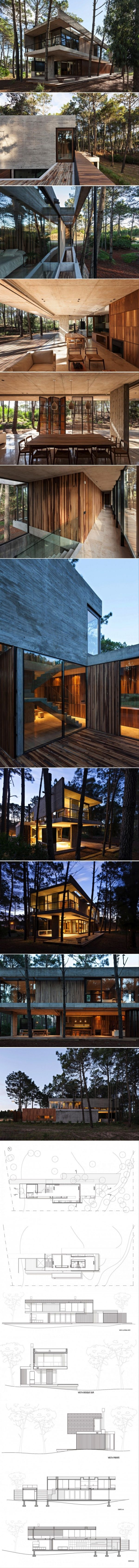 Marino Pinamar is a private home located in Pinamar, Argentina.  The 4,844-square-foot home was designed by ATV arquitectos in 2014.