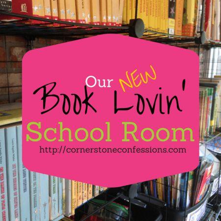 Our 2015 Book Lovin' School Room --Homeschool Space Ideas