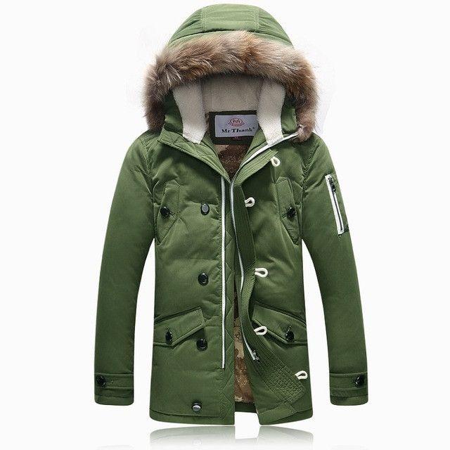 Winter Brand Men Down Jacket Fur Hood With Cashmere Plus Size XXXL Winter Jacket High Quality Fashion Men's Coat Hot Sale