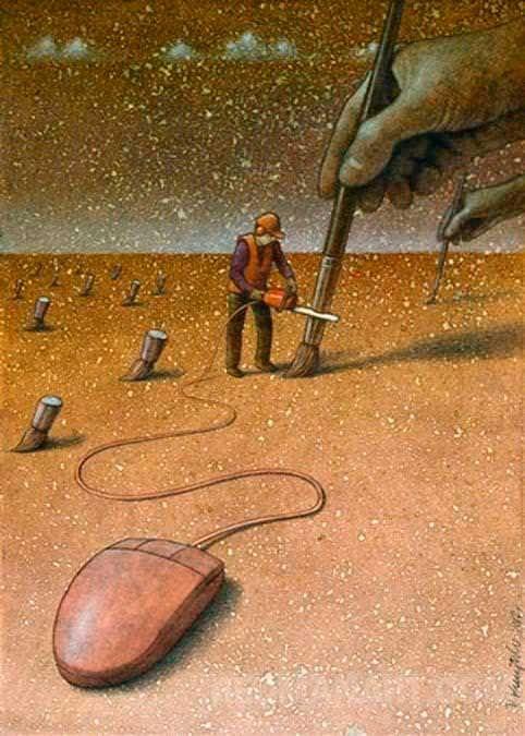 Imágenes para meditar sobre nuestra realidad actual.