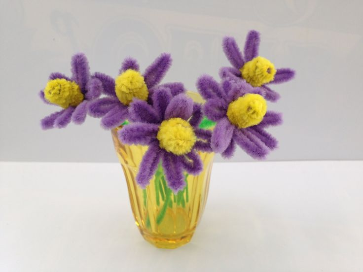 Pipe Cleaner Flower DIY tutorial #11, kids crafts (モールアート)