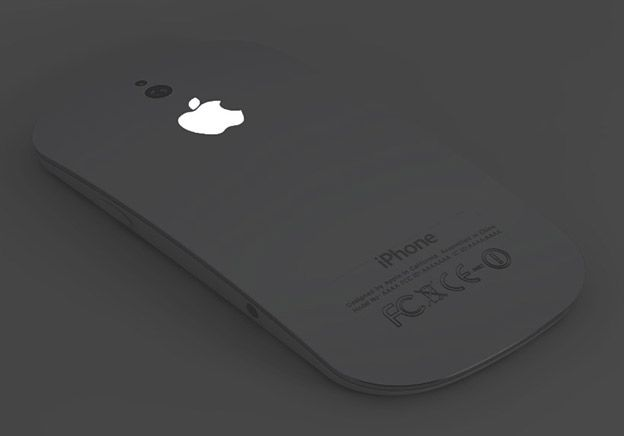 iPhone 5 Concept by Ciccarese Design    The logo is lit in the back.