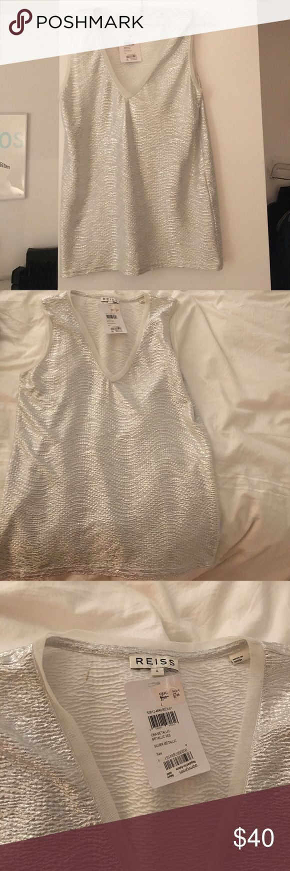 Shimmery REISS top Soft material never worn with tags Reiss Tops Tunics