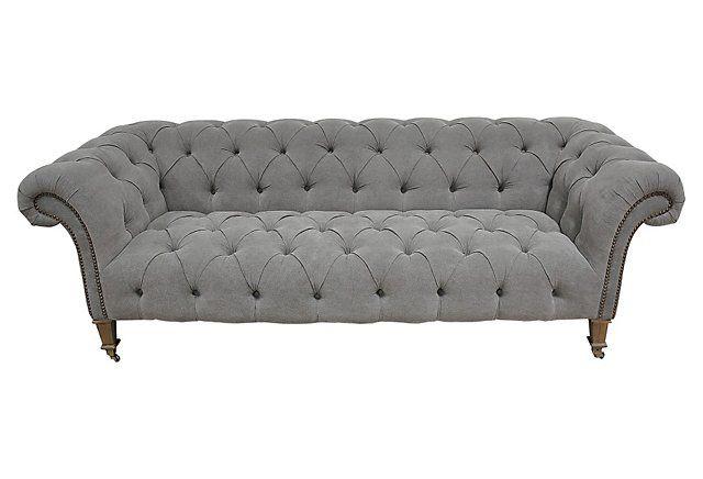 One Kings Lane - Take a Seat - Finley Sofa, Gray