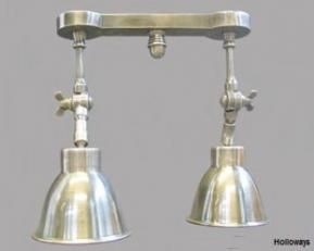 Twin pewter spotlight, Industrial wall lights, Industrial lighting, Contemporary lighting, Holloways of Ludlow  £135