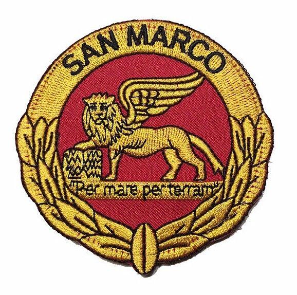 Patch ufficiale Marina Militare. Brigata San Marco con retro velcrato. www.labottegadeldido.com